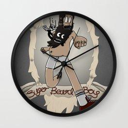 Super Beard Boy - Framed Justice! Wall Clock
