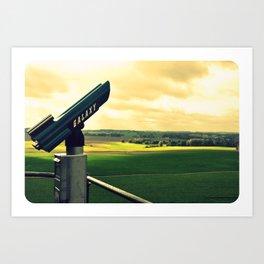 Overlooking the battlefield Art Print