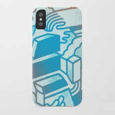 Building Blocks iPhone X Slim Case
