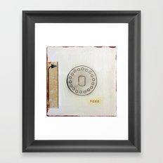 Number Five Framed Art Print