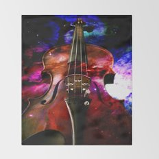 violin nebula Throw Blanket