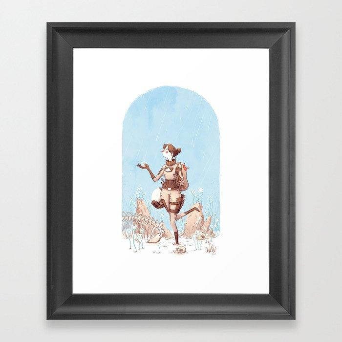 Walking Home Framed Art Print