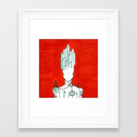 malachite Framed Art Prints featuring Malachite by Cynical Woman