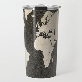 World Map - Ink lines Travel Mug