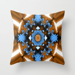 The colors of Fall with a touch of Winter.... Throw Pillow