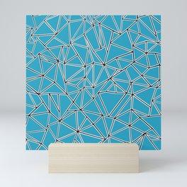 Shattered Ab Blue Mini Art Print