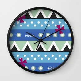 Hawaiian Tapa Wall Clock