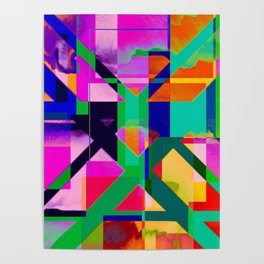 """""""The X"""" Abstract- Vibrant Multi-Color Design Poster"""