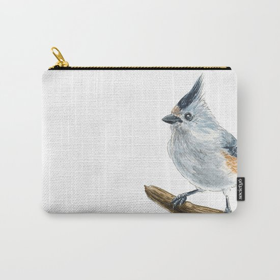 Titmouse bird watercolor Carry-All Pouch