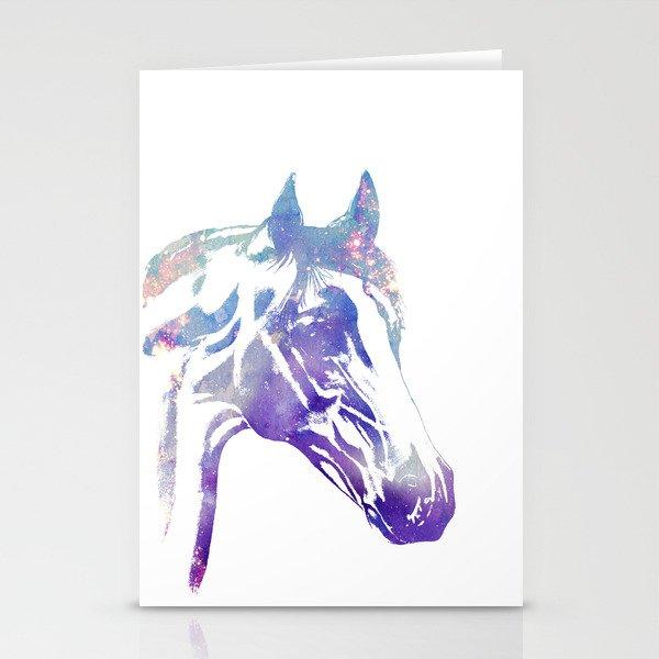Galaxy Horse Stationery Cards By Corintaterbug Society6