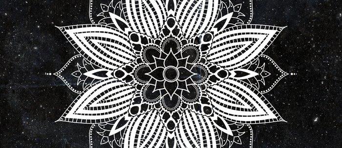 Flower Mandala in the Stars Coffee Mug