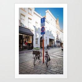 Bruges bike Art Print