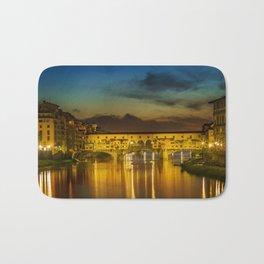 FLORENCE Ponte Vecchio at Sunset Bath Mat
