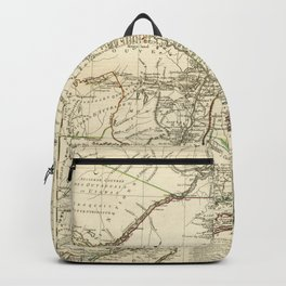 American Revolutionary War Map (1782) Backpack