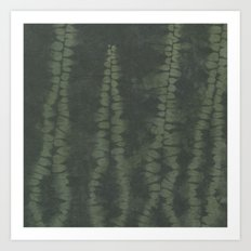 Shibori Ferns Art Print