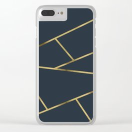 Copper and Midnight Navy #society6 #decor #buyart #artprint Clear iPhone Case
