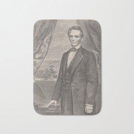 Vintage Abraham Lincoln Illustrative Portrait (1860) Bath Mat