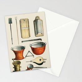 Kjokken (1850) published in Copenhagen, a vintage collection of kitchenware. Stationery Cards
