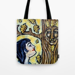Mighty Oak * Nature Maidens Tote Bag