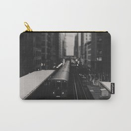 """Chicago South Loop """"L train"""" photograph Carry-All Pouch"""