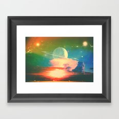 Hello Saturn, Welcome Back... Framed Art Print