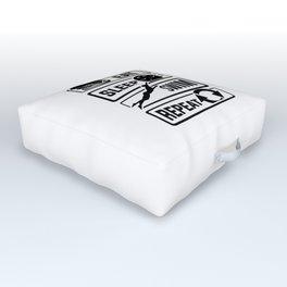 Eat Sleep Swim Repeat - Swimming Water Sports Pool Outdoor Floor Cushion