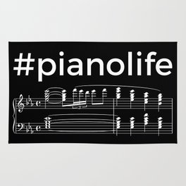 #pianolife (dark colors) Rug