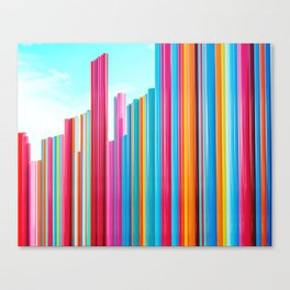Colorful Rainbow Pipes Canvas Print