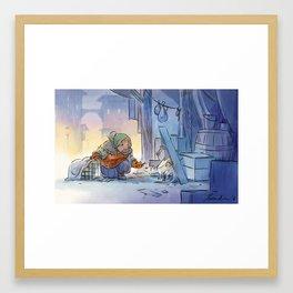 Mamie Dragon - Help Framed Art Print