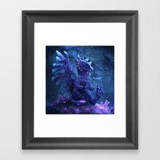 SPACE DRAGON ARELIM Framed Art Print