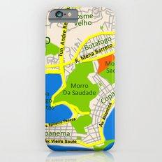 RIO map design - Brasil iPhone 6 Slim Case