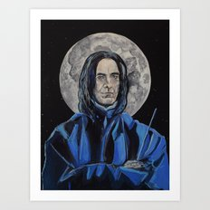 Snape/Alan Rickman Icon Art Print