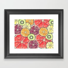 fruit salad Framed Art Print