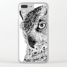 Ink Owl Clear iPhone Case
