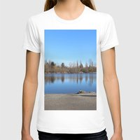 trout T-shirts featuring Trout Lake by RMK Photography