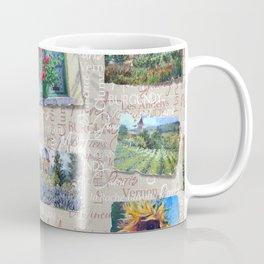 Postcards From France Pattern Coffee Mug