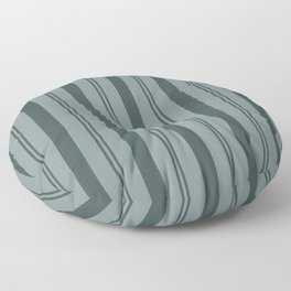 Night Watch Color of the Year PPG1145-7 Thick and Thin Vertical Stripes on Scarborough Green Floor Pillow