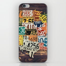 License Plate Map Of The United States iPhone Skin