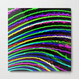 Rainbow Electric Metal Print