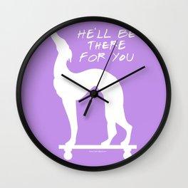 Pat the dog Wall Clock