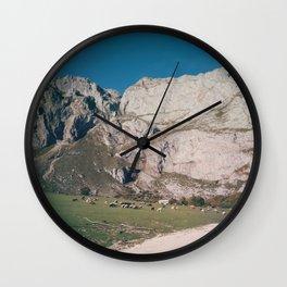 Animals love grass Wall Clock