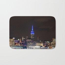 Midtown Manhattan at Night Bath Mat
