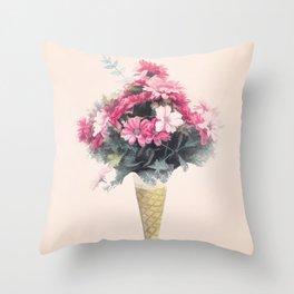 Flowers cornet Throw Pillow
