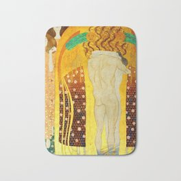 """Gustav Klimt """"The Beethoven Frieze - The quest for happiness"""" Bath Mat"""