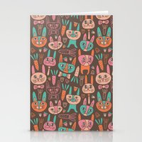 bunnies Stationery Cards featuring Bunnies by Olya Yang