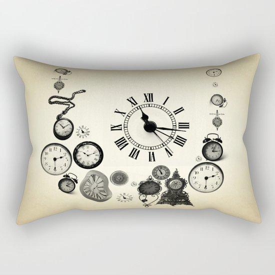 vintage clocks Rectangular Pillow