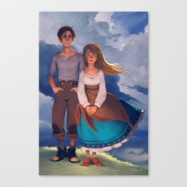 Molly & Théo Canvas Print