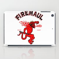 whisky iPad Cases featuring Firemaul Whisky by Ant Atomic