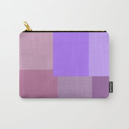 Purple grid Carry-All Pouch