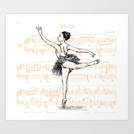 Ballerina print Art Print